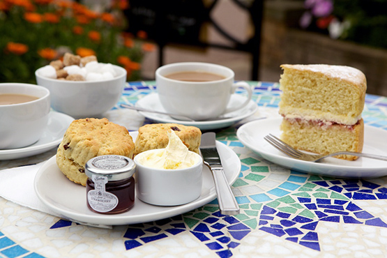 Gleneagles cream tea in Tea Rooms