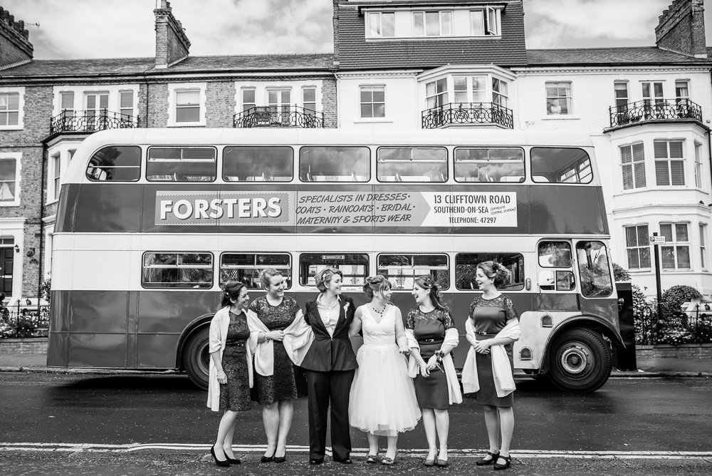 Wedding photos at Gleneagles Guesthouse with bus